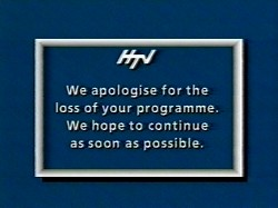 We apologise for the loss of your programme (1988)