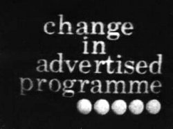WWN  - Change in advertised programme